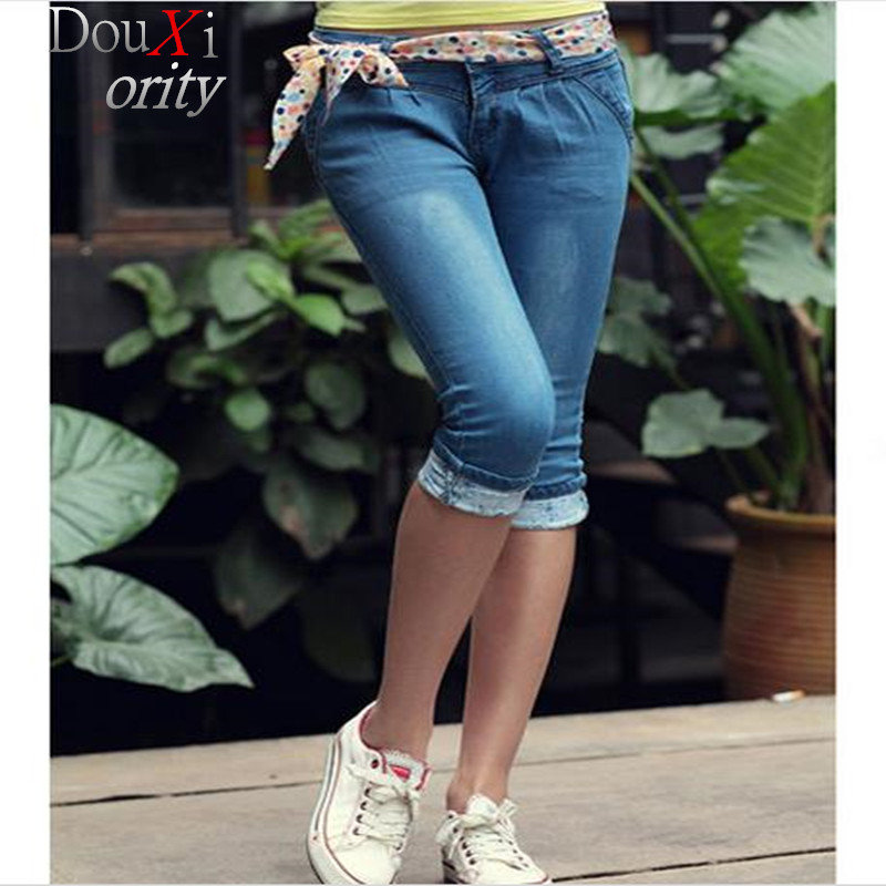 women Calf-Length Pants  jeans flanging  spring and summer Skinny Button Fly Harem Pants, women shorts jeans Одежда и ак�е��уары<br><br><br>Aliexpress