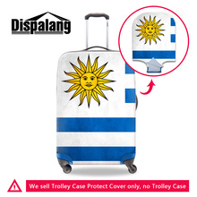 Dispalang custom design national flag luggage protective covers for 18-30 inch suitcase thick portable elastic trolley protector(China)