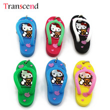 Transcend Hello kitty summer slipper usb flash drive pendrive 4GB 8GB 16GB 32GB(China)
