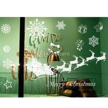Christmas Decal for Holiday Shop Home Window Wall Decoration Sticker Gifts