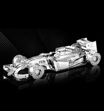 F1 Racing Jigsaw Puzzles Stainless Steel DIY Assembly Car Model Learning Educational Toy Kids Toys Brinquedos 3D Metal Puzzle(China)