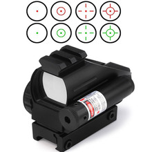 Hunting RifleScope Optics Holographic Green Red Dot Reflex Sight with 4 Various Reticle 20mm Rails Mount