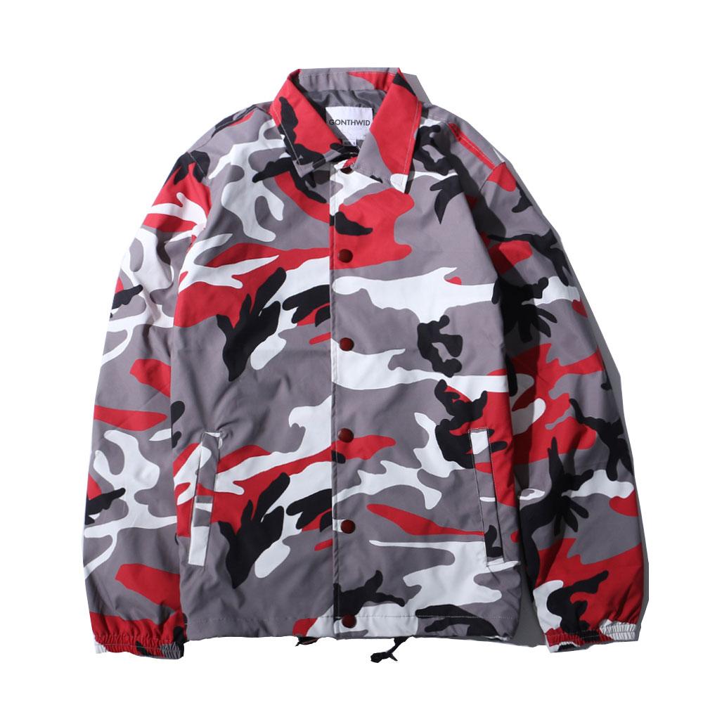 Color Camo Windbreaker Coaches Jackets 5