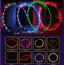 Free shipping LED Lights Hula Hoop Performance & Sports Equipment Weight loss Hula Hoop 90CM LED toys