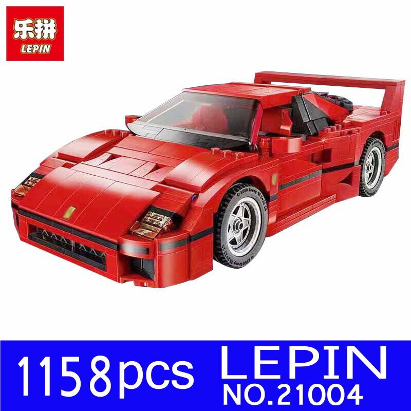 LEPIN 21004 1158pcs Technic Series F40 Sports Car Model Kits Building Blocks Bricks for Children Toys Christmas Gift 10248<br>