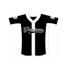 Brand Design Black&White Polyester Quick Dry Baseball Shirts Plain Baseball Jersey Sport  jerseys For Baseball Game For Team