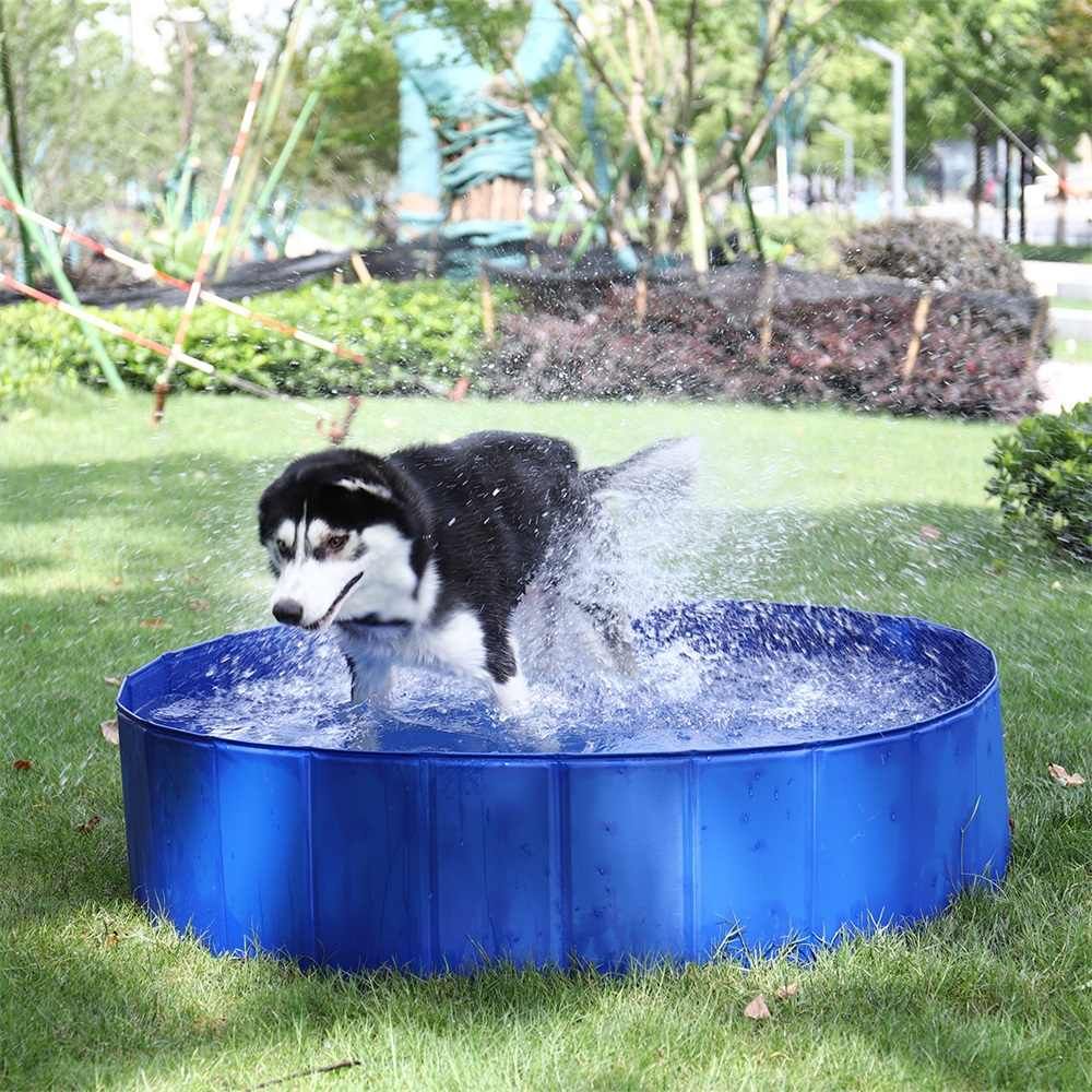 Foldable Pool Dog Pet Swimming Pool For Dog Waterproof Pet Dog Cat PVC Pet  Play Swimming Pool Cats Dogs Bathing Bathtub