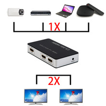Premium HDMI 1*2 1080P 3D Stereo Audio Extractor Converter HDMI Audio Splitter Adapter US/EU Plug Black