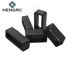 Rubber Watch Band Accessories 18mm 20mm 22mm 24mm 26mm Black Silicone Watch Strap Small Rubber Loop Holder Locker 1pcs
