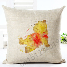 2016 New Arrival High Quality Cartoon Style Housewear Chair Cushion Throw Pillow Cojines Almofadas Cotton Linen Square