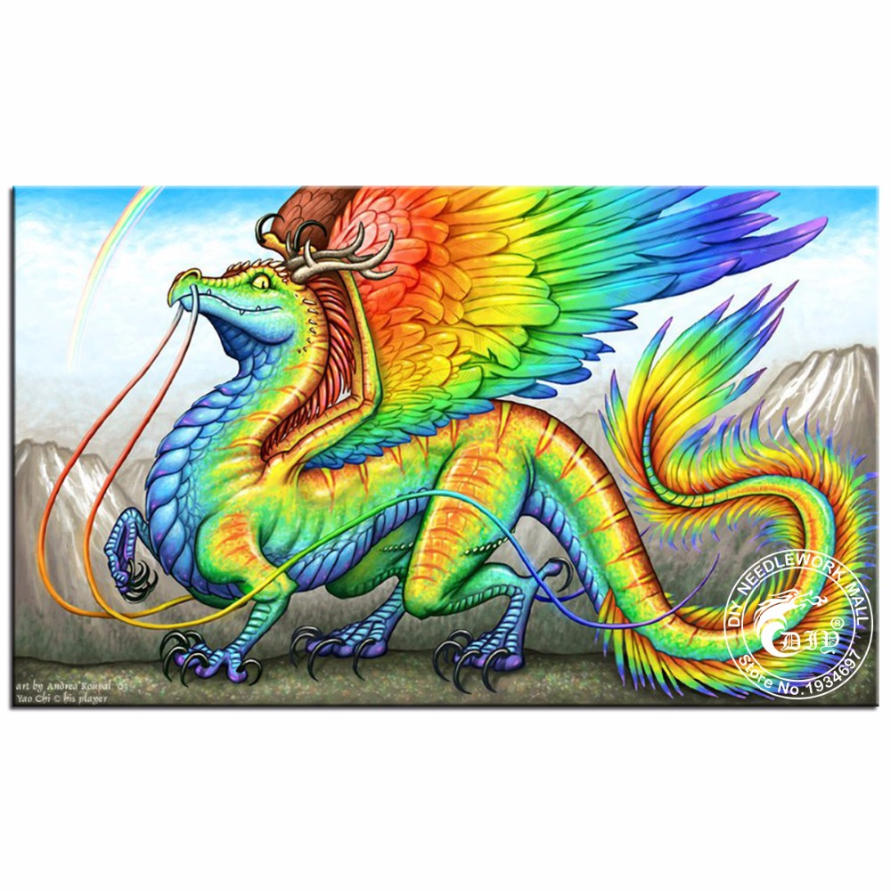 Diamond Embroidery Dragon Wings Diy Painting Cross Stitch Sets Animal Mosaic