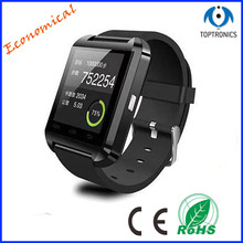 2016 hotsales item Smart Watch TP-U8 with Bluetooth Remote Control 128*128 Pixel Compatible IOS & Andriod mobile phones watch