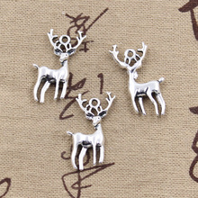 Buy 12pcs Charms Christmas deer sika 27*18mm Antique Silver Plated Pendants Making DIY Handmade Tibetan Silver Jewelry for $1.92 in AliExpress store