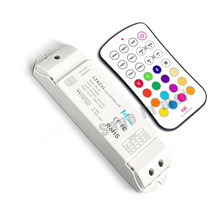 LTECH M6+M4-5A;M6 MINI RF wireless remote led RGB controller with M4-5A CV Receiving;DC5V-DC24V input;6A*3CH Max18A output(China)