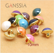 40pcs/lot Candy color Metal imitation pearl buttons Shank sewing buttons for shirt garment (ss-631)(China)