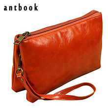 Mad Discount ! Vintage Solid Pu Leather Women Clutch Girls Small Double Wallet Messenger Shoulder Bag Brand Designer Bolsas(China)
