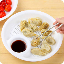 Portable Mini Spices Dish Plastic Fruit Bowl Dumplings Dishes White Dual-layer Disc Tools Kitchen Accessories 1PC