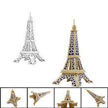 New Eiffel Tower 3d jigsaw puzzle toys wooden adult children's intelligence toys Creative Educational Toy Jigsaw Puzzles For kid(China)