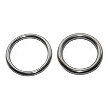 10 x Welded Ring M4*40mm 304 Stainless Steel O Round Rings for kayak canoes Marine Shade Sail Boat(China)