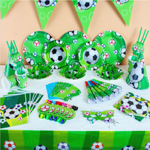 Really quality football safe lovely party shower decoration unit items happy birthday kids baby girl boy party set suppliers