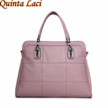 Quinta Laci genuine leather women handbags spring female shoulder bag fashion ladies totes ipad pink crossbody women bag(China)