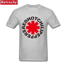 2017 Elegant Men Red Hot Chili Peppers T Shirt Custom Short Sleeve Cotton Custom American Rock Band Logo Graphic Concert Shirts(China)