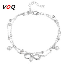 VOQ 2017 Hot Sale Summer Beach Style Infinite Ankle Bracelet Boho Foot Jewelry Anklet Bracelets For Women enkelbandje