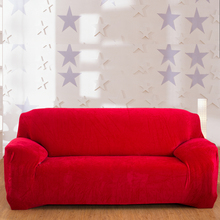 Spandex Stretch Sofa cover Big Elasticity Polyester Plush Couch Cover Loveseat Sofa Furniture Cover Solid 9 Colors Machine Wash
