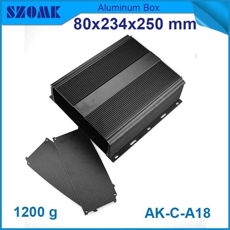 4 pcs/lot aluminium case for led lights powder coating aluminum enclosures box housing 80(H)x234(W)x250(L) mm<br>
