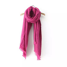 DOUBLA New Fashion Womens Solid Color Winter Warm Scarfs Wrap Cashmere Feel Women Ladies Shawls Grey Yellow Red Black Kaiki