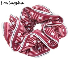 5Pcs/Lot Women Scrunchies Lady Hair Tie Ponytail Holder Rope Hair Accessories Girl Accessories Patchwork Design Border NF014(China)