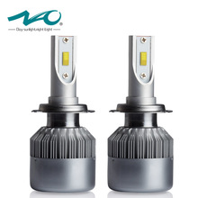 NAO H7 Car Headlight LED Bulb 7600Lm 72W Set 12V 24V Flip Chip 6000K Truck Fog Head Lamp All In One #C6F(China)