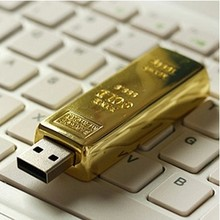 100% real capacity usb flash drives Gold Shaped 4G 8G 16GU Disk pen drive golden USB 2.0 memory stick S68(China)