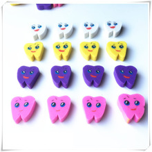 50pcs/bag Molar Shaped Tooth Rubber Erasers Dentist Dental Clinic School Great Gift(China)
