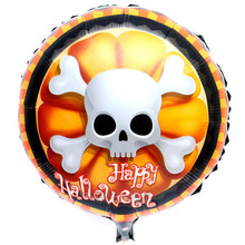 45cm helium foil cheap mylar balloons custom personalized cartoon character children party decoration halloween balloons(China)