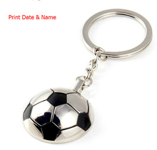 100pcs Personalized Football Key chains GREAT GIFT IDEA,wedding customized favors gift, print bridal name or wedding date(China)