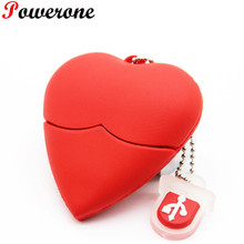POWERONE Love heart style usb flash drive plastic beauty pendrives 8gb 16gb 32gb usb stick pendriver USB 2.0 u disk thumb drive(China)