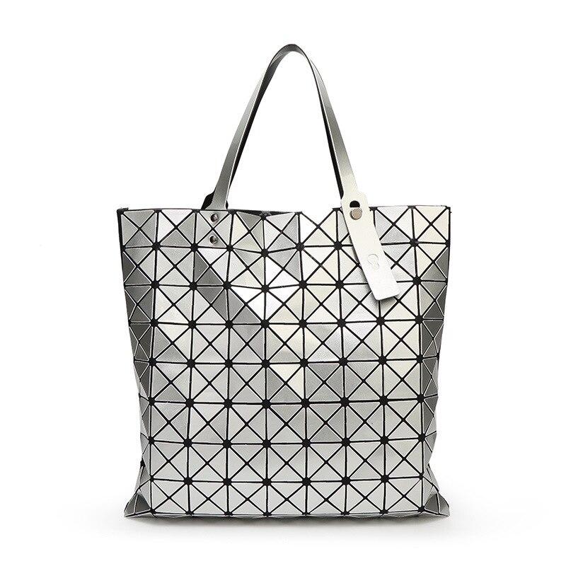 2018 New Women Bao Bao Bag Geometry Package Sequins Mirror Plain Folding Bag Ladies Women Famous Brands Lady BaoBao Handbags 9*9<br>