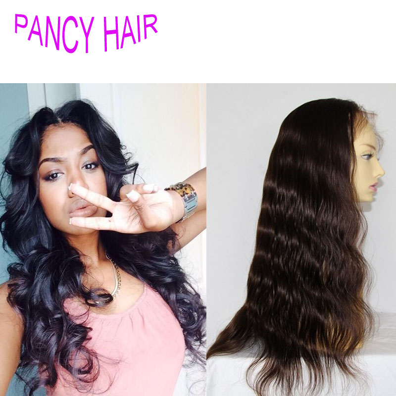 Unprocessed brazilian human hair lace front wig virgin hair 130 150 180 density brazilian body wave full lace wig free shipping<br><br>Aliexpress