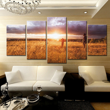 5 Pieces HD Print Painting Grassland Travel Landscape Picture For Modern Decorative Bedroom Living Room Home Wall Art Decor(China)