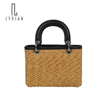 Lydian Scraf Woven Straw Tote Chain Messenger Handbags Beach Bag Mix Summer Weave Clutches Bags Designer Bag Sling Bag Work Tote