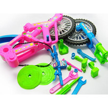 2017 New Hot Sale Diy Accembly Mini Fashion Disassembly Bicycle Design Educational Toys for Children Kids(China)