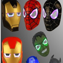 Juntao Children's luminous spider iron man revenge alliance is dressed up Mask a Halloween party(China)