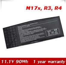 11.1V 90Wh New Replacement Laptop Battery for Dell Alienware M17x R3 R4 Series BTYVOY1 C0C5M 5WP5W 7XC9N 05WP5W 07XC9N