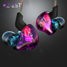 KZ ZST Colorful Earphone Professional Headphones High Quality Hifi Bass Monito Earphones With Microphone Earbud for phone(China)