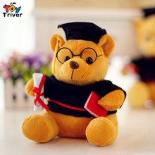 Plush stuffed mini graduation teddy bear doctor Dr.bear student college graduation gift 1pc Baby birthday gift