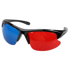 3D Glasses Red Blue Plasma TV Movie Dimensional Anaglyph Half-frame 3D Vision Glasses Movie Game DVD Video TV Free Shipping