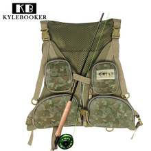 KyleBooker New Multi-pocketed Fishing Vest Fishing Pack Outdoor Handy Adjustable Fly Fishing Vest(China)