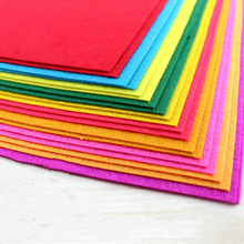 Pure color Non-woven fabric polyester felt Fabric Felt Cloth for DIY Handmade Sewing clothe craft Home Thickness Felt 20 pcs(China)