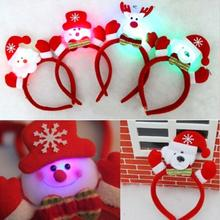 1Pcs Santa Hat Head Band Christmas Decration for Christmas Party Multi Design New Gift Xmas Child Gift and Adult Headwear(China)